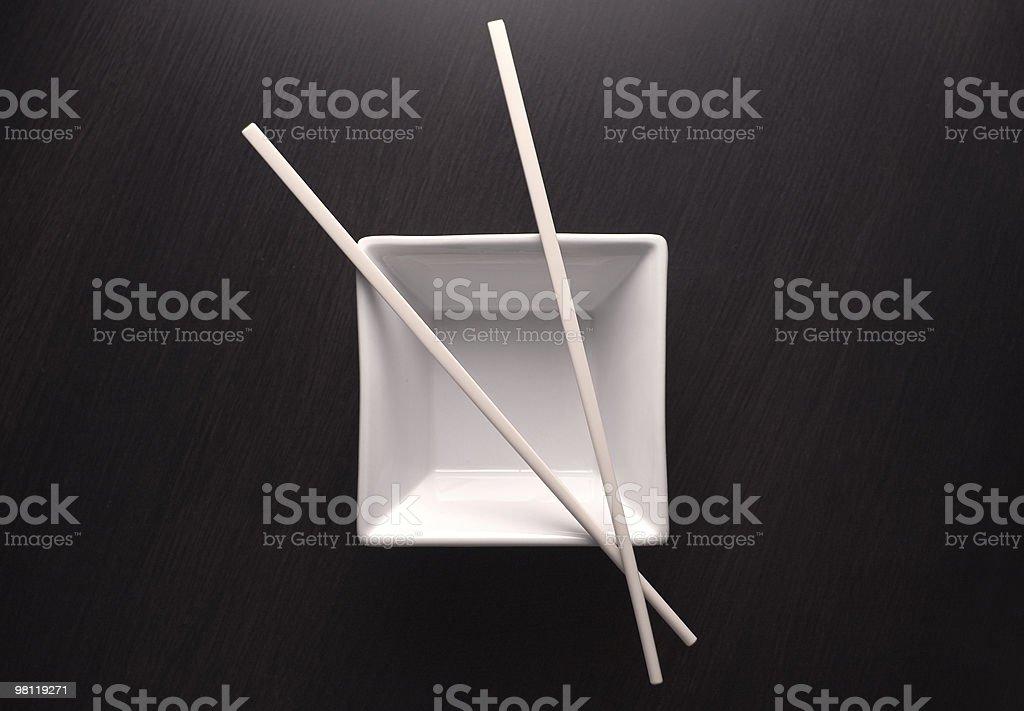 Chopsticks on Rice Bowl royalty-free stock photo