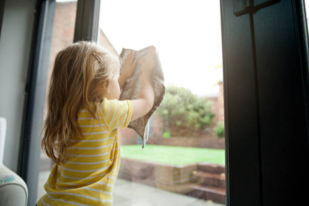 Chores at Home stock photo