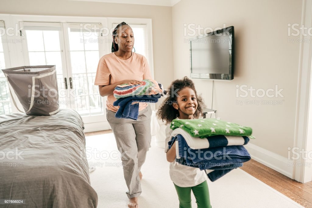 Chores for kids stock photo