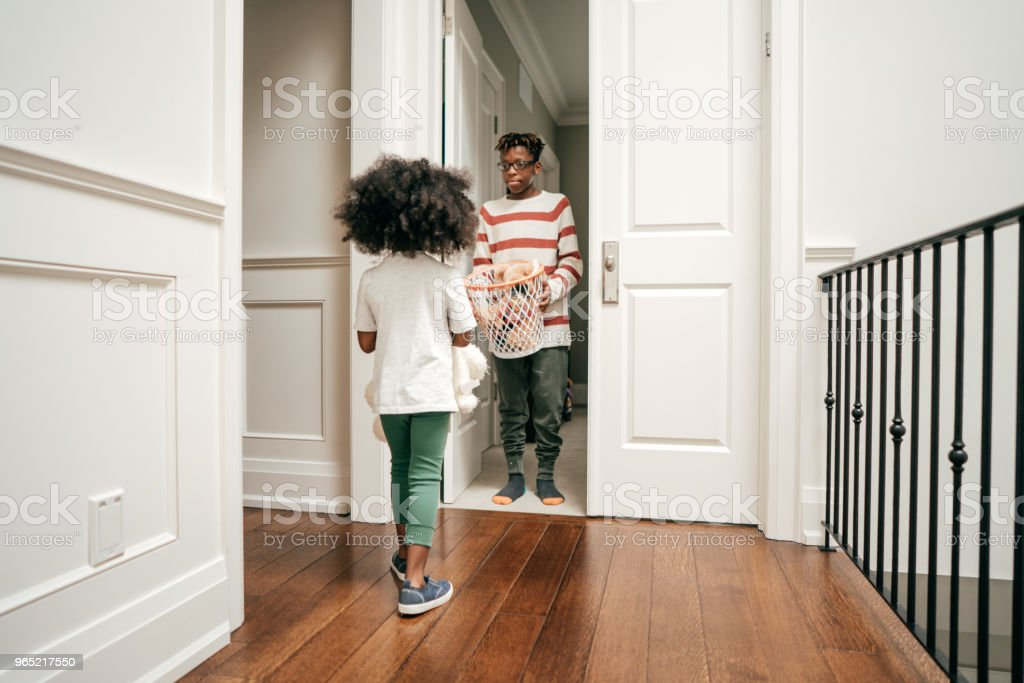 Chores for kids. royalty-free stock photo