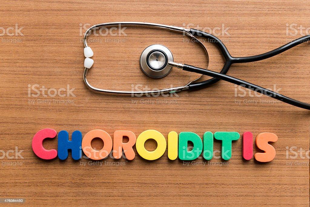 Choroiditis stock photo