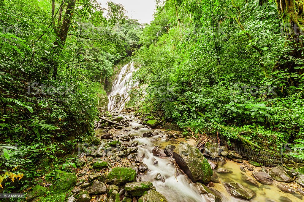 Chorro el Macho, a waterfall in El Valle , Panama stock photo