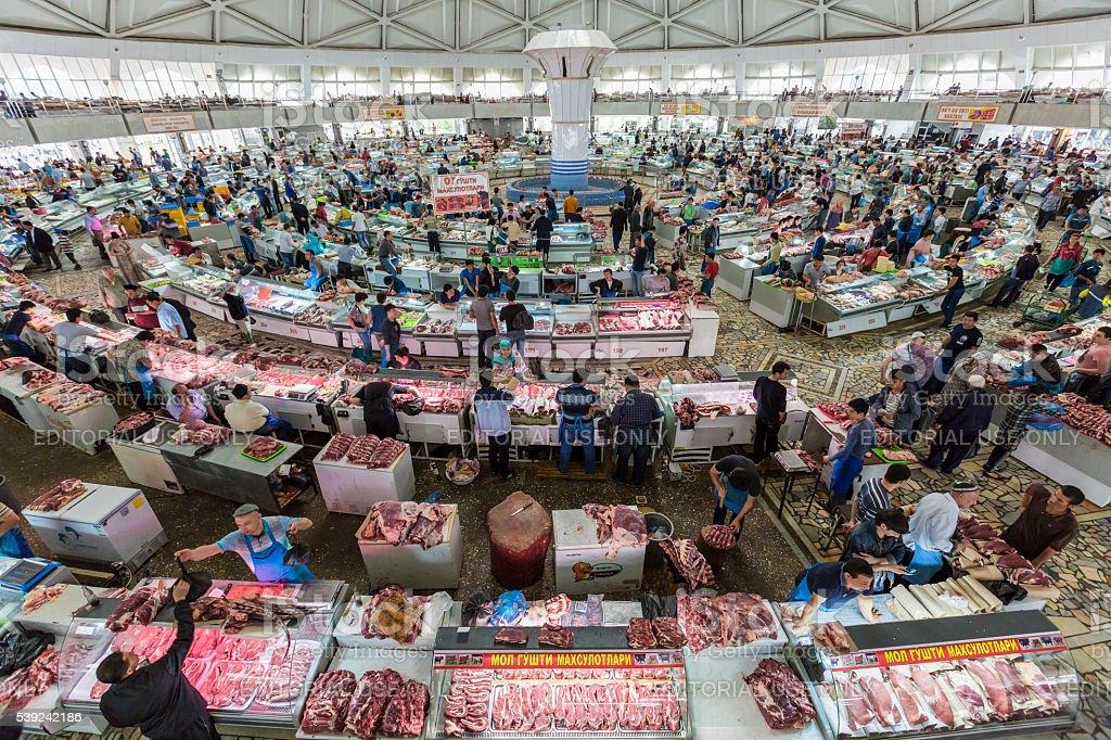 Chorsu Bazaar in Tashkent, Uzbekistan stock photo