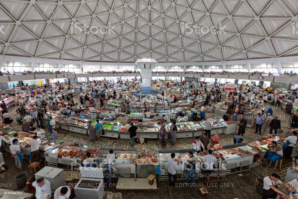 Chorsu Bazaar, in Tashkent, Uzbekistan stock photo