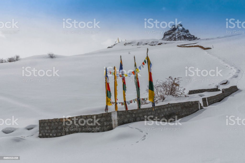 chorten flags royalty-free stock photo