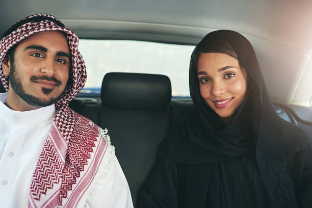 i chose the perfect partner to travel through life with - saudi woman stock photos and pictures