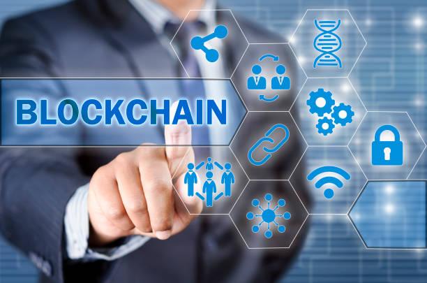 Chosing blockchain stock photo