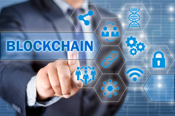 Chosing blockchain stock photo