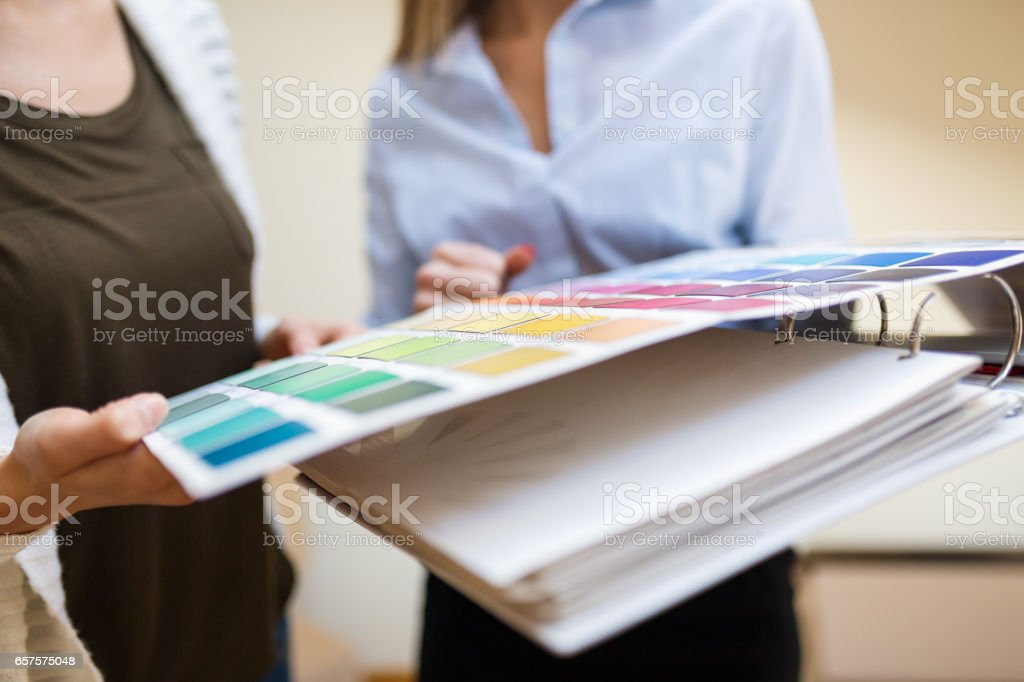 Chosing the right color stock photo
