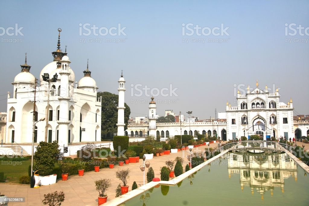 Chota Imambara, is an monument located in the city of Lucknow, Uttar Pradesh, India royalty-free stock photo