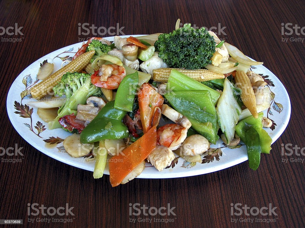 Chow mein royalty-free stock photo