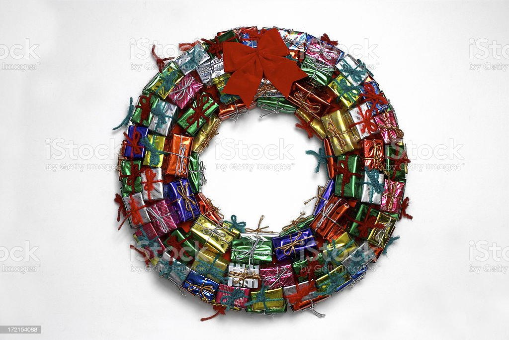 Chrismas Present Wreath royalty-free stock photo