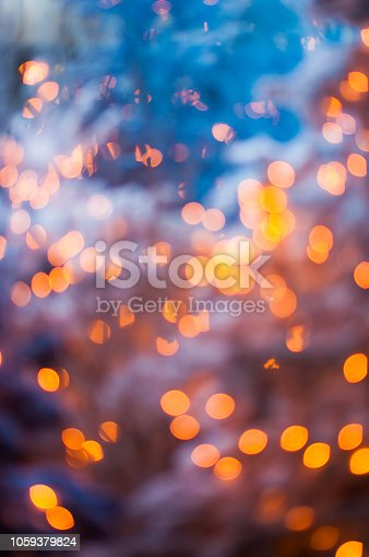 865140324 istock photo Chrismas tree and illuminated decoration background 1059379824