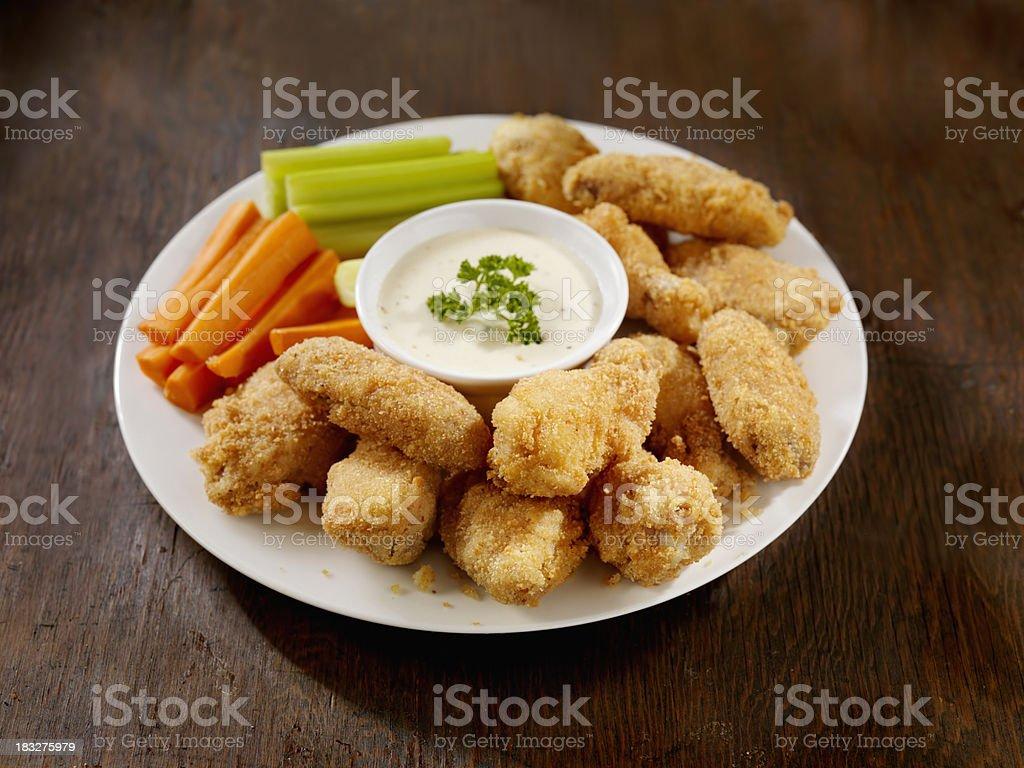 Chrispy Chicken Wing Platter royalty-free stock photo