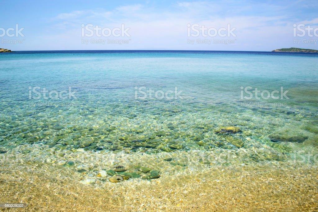 Chrissi Ammos beach Andros island Grekland royaltyfri bildbanksbilder