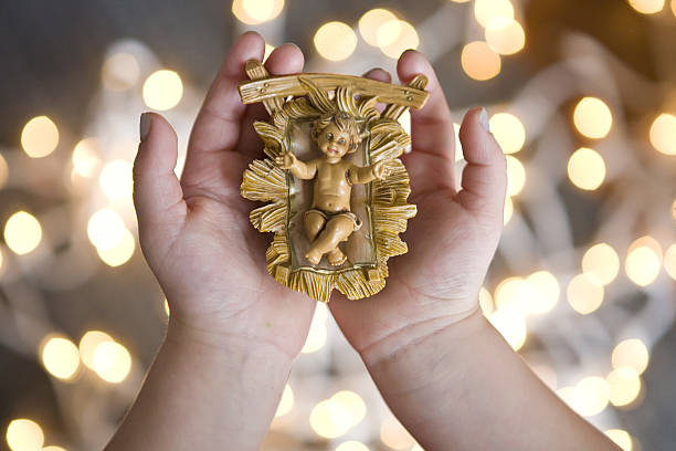 christ child - nativity scene stock pictures, royalty-free photos & images