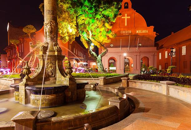 Christ Church and the Dutch Square, Malacca stock photo