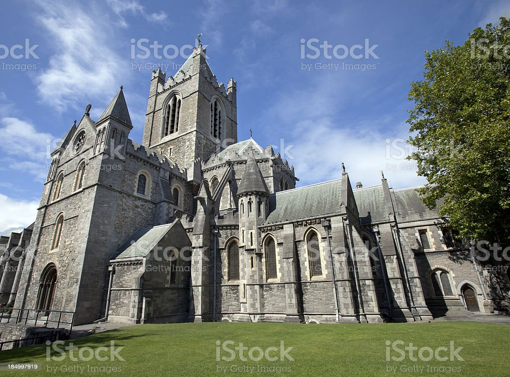 Christ Church Cathedral Dublin Ireland stock photo