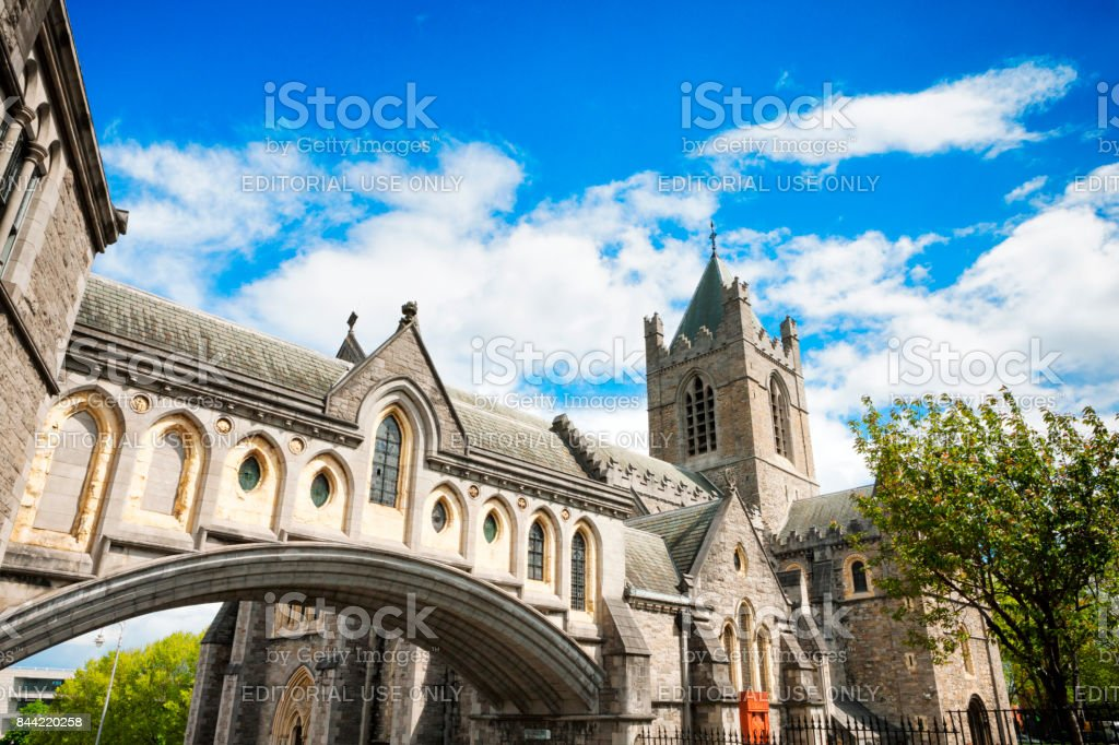 Christ Church Cathedral in Dublin, Ireland stock photo