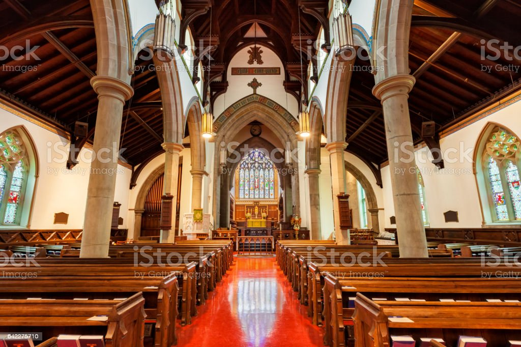 Christ Church Cathedral in Fredericton New Brunswick Canada stock photo