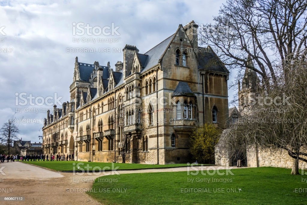 christ church cathedral in Oxford, England stock photo