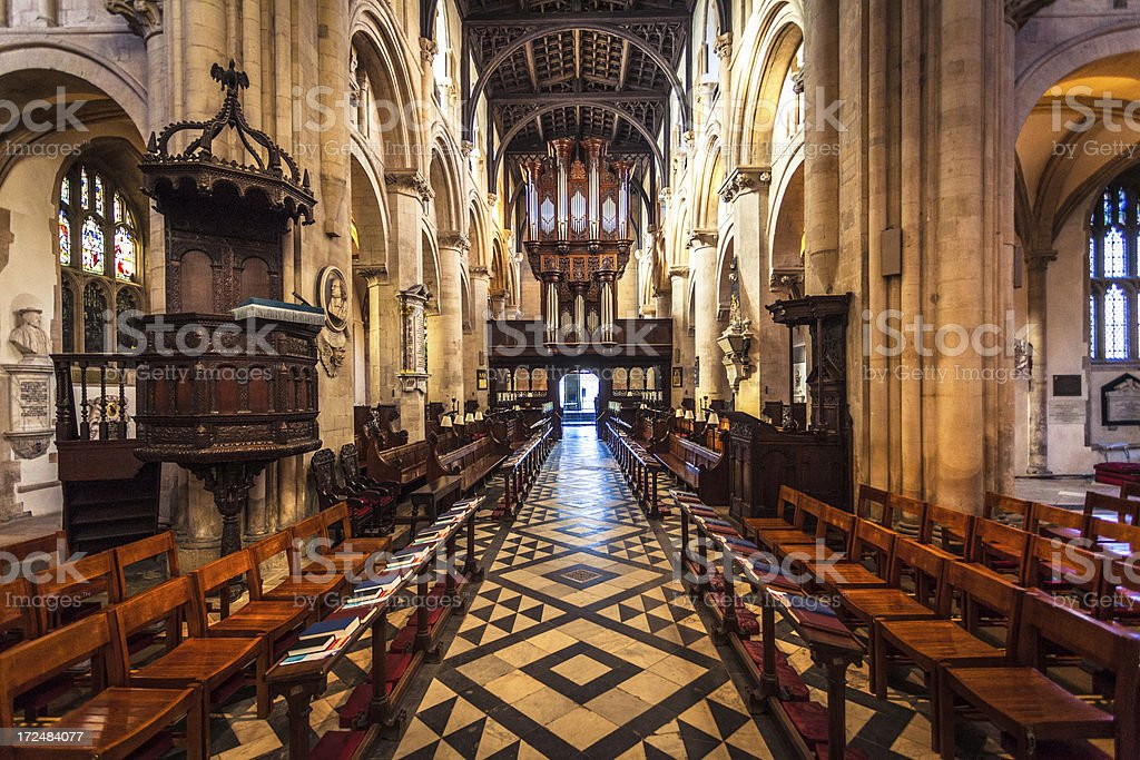 Christ Church Cathedral in Oxford, United Kingdom stock photo