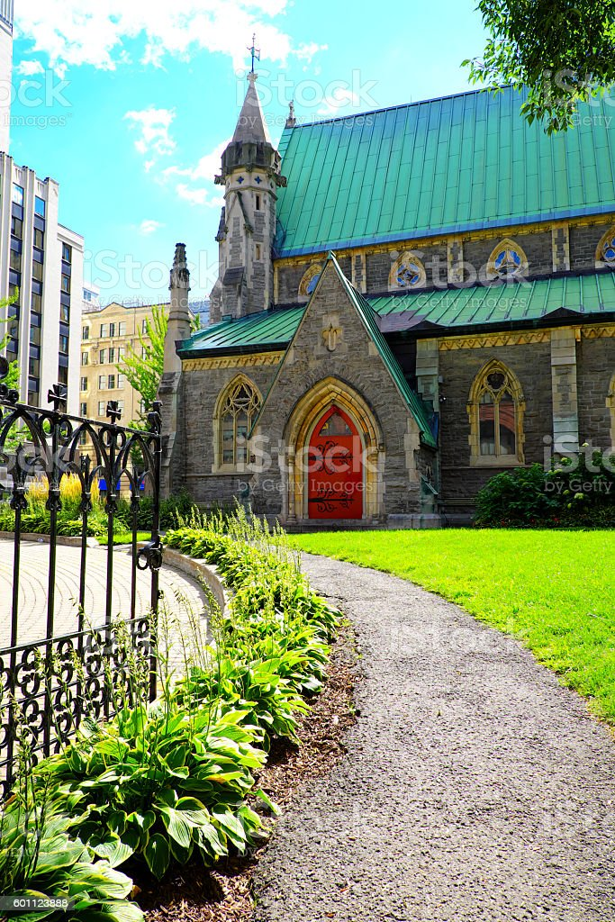 Christ Church Cathedral Montreal stock photo