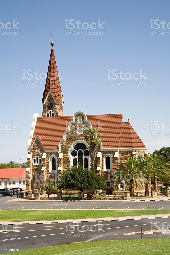 Christ Church - Christuskirche Windhoek Namibia royalty-free stock photo