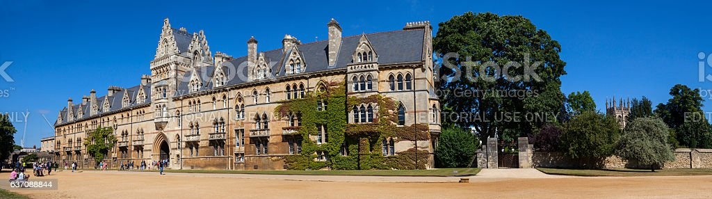 Christ Church College at Oxford University stock photo