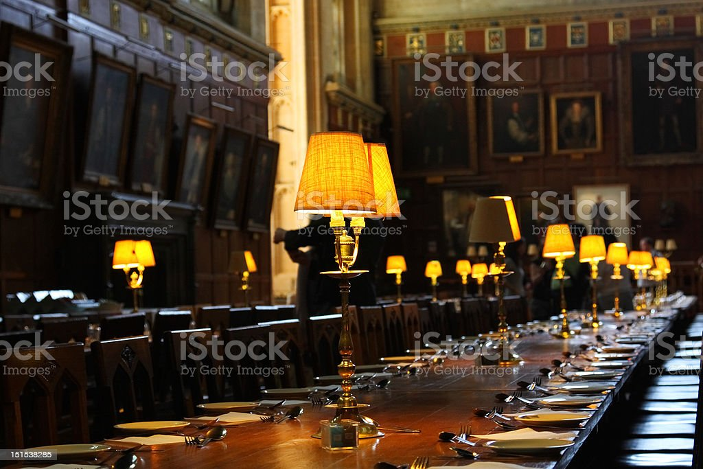 Christ Church College, Dining Room (Harry Potter) stock photo