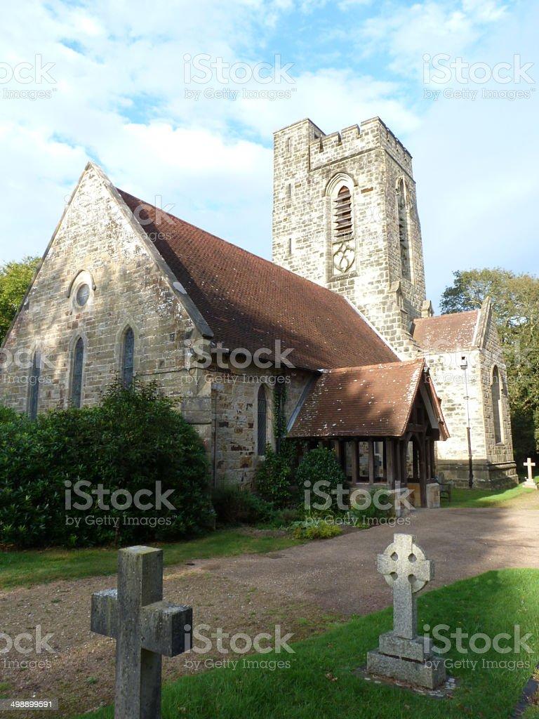 Christ Church Fairwarp in the Ashdown Forest stock photo