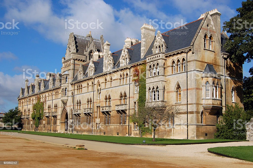 Christ Church in Oxford stock photo