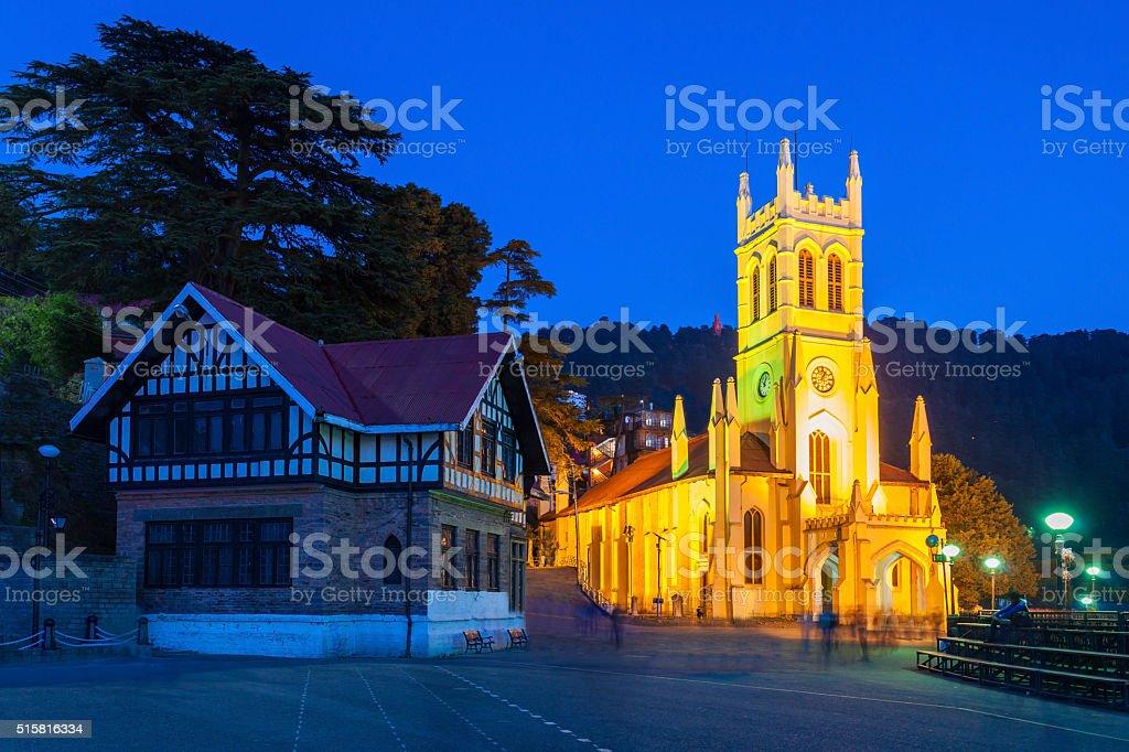 Christ Church, Shimla stock photo