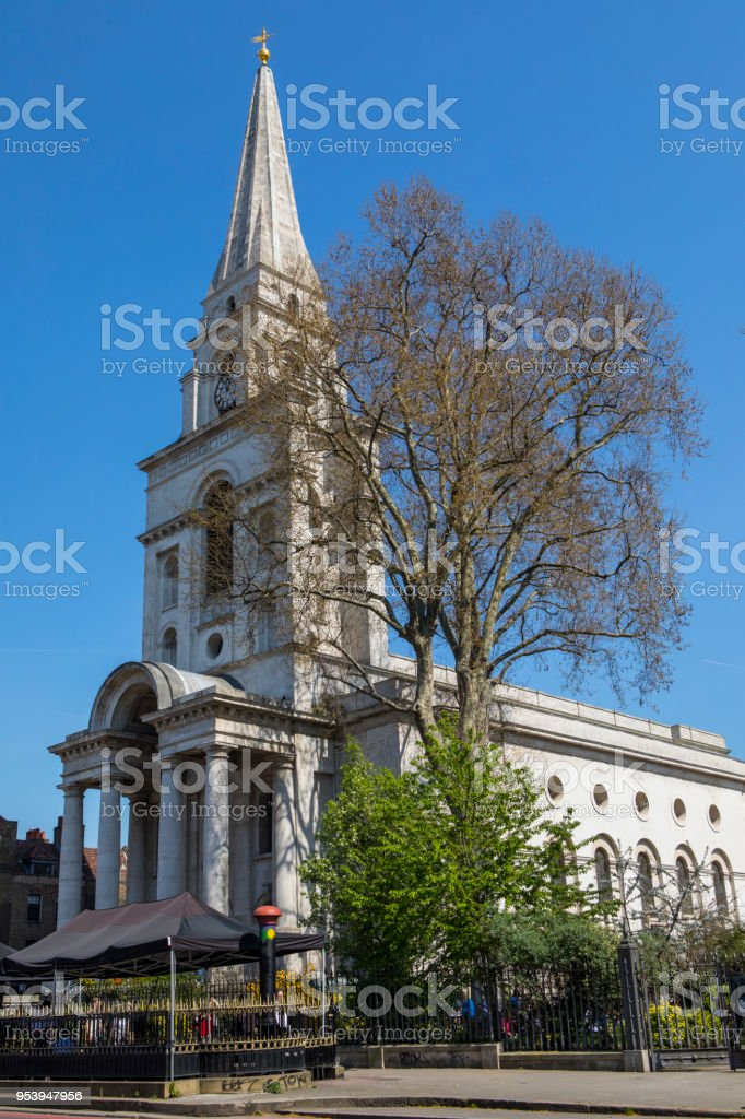 Christ Church, Spitalfields in London stock photo