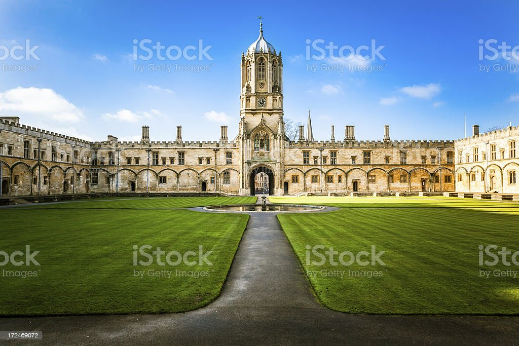 Christ Church's Tom Tower and College, Oxford University, United Kingdom stock photo