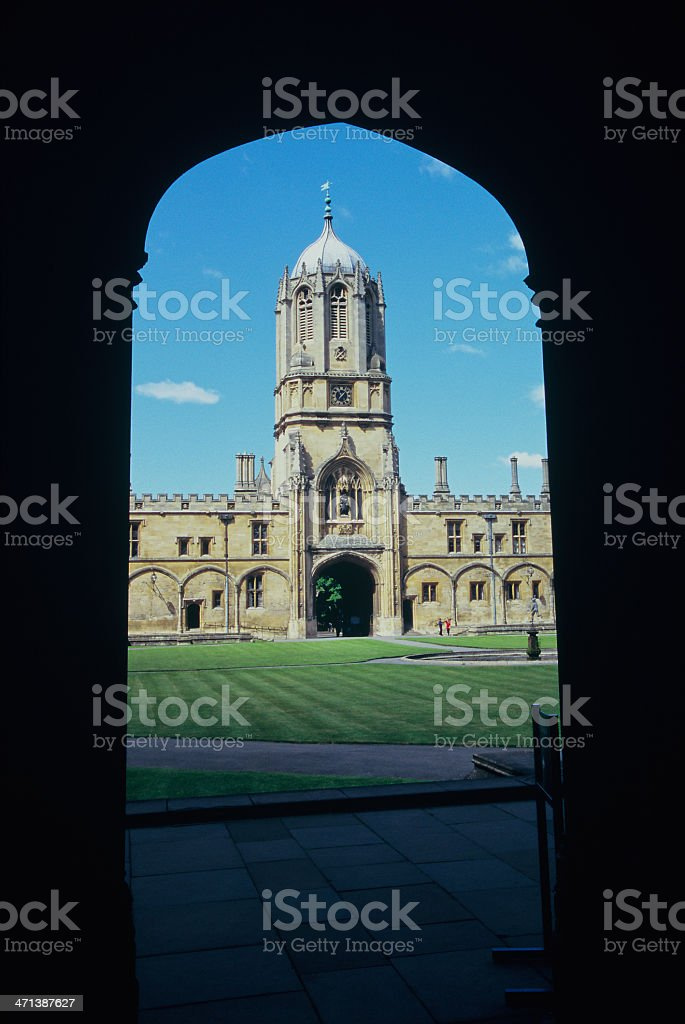 Christ Church's Tom Tower, Oxford University, England royalty-free stock photo
