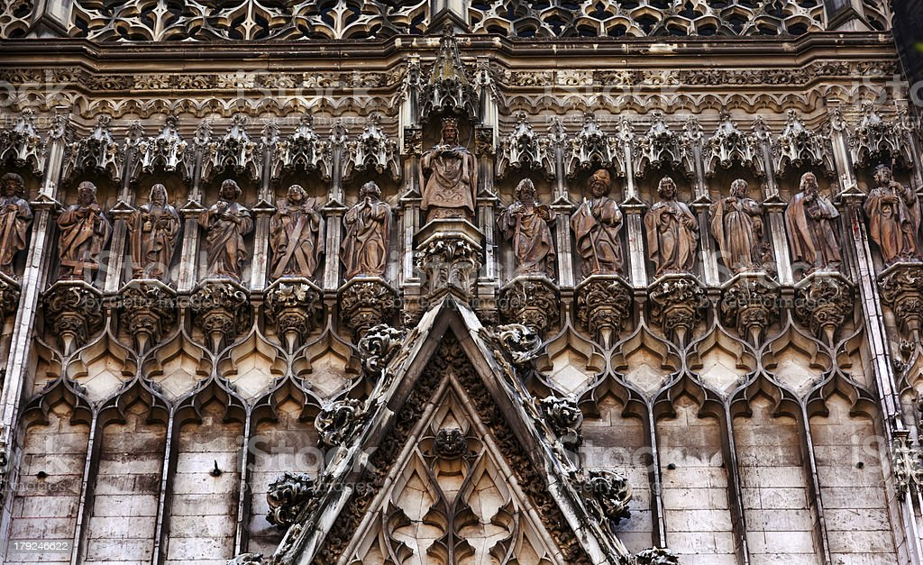 Christ Disciples Statues Facade Seville Cathedral Spain royalty-free stock photo