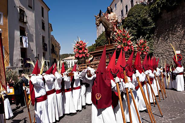 christ. easter holy week, spain - easter procession spain bildbanksfoton och bilder