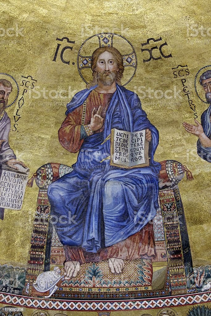 Christ Enthroned stock photo