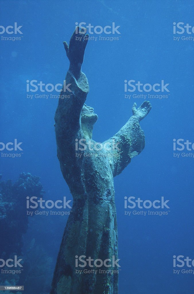Christ in the Abyss stock photo