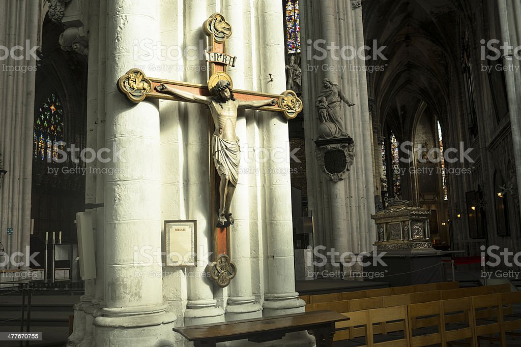 Christ in the cross royalty-free stock photo