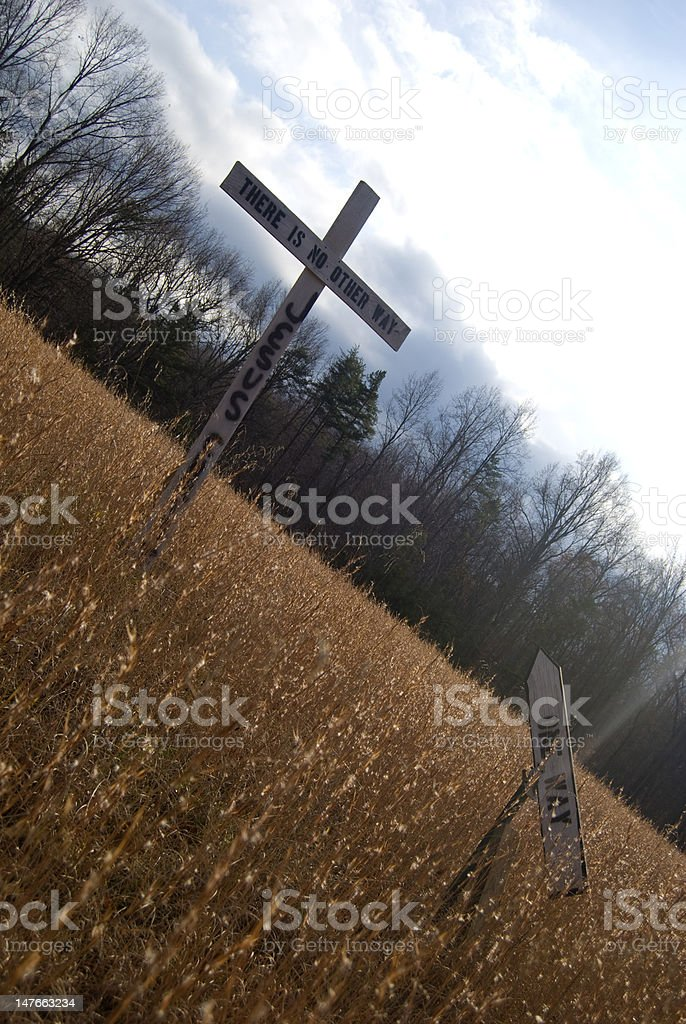Christ is the way royalty-free stock photo