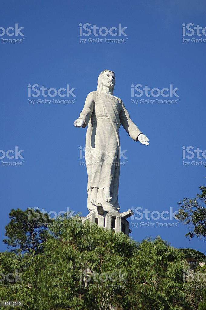 Christ of El Picacho stock photo