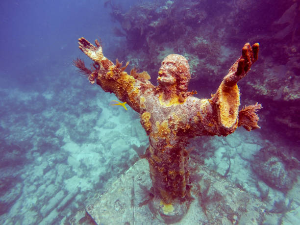 Christ of the Abyss,Key Largo,Florida stock photo