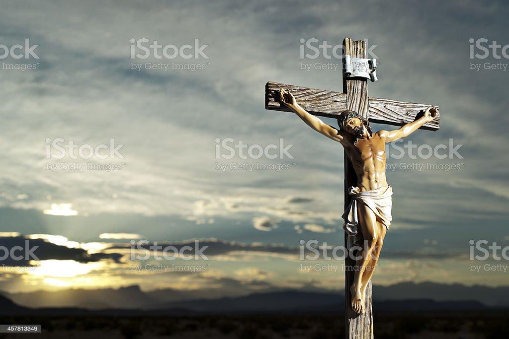 Christ on the Cross stock photo