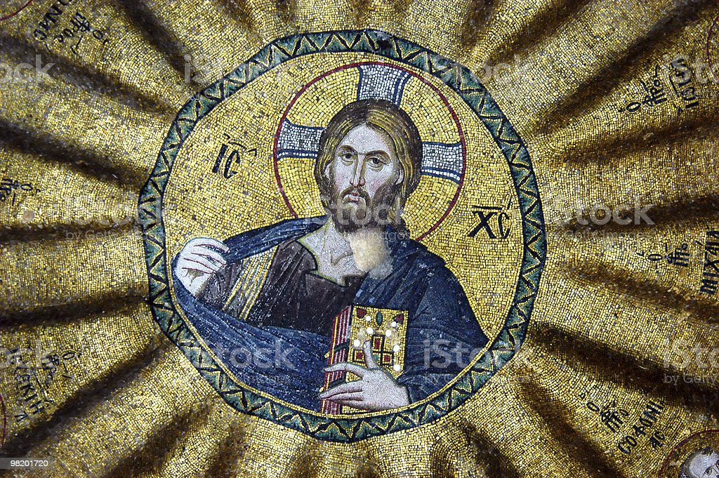 Christ surrounded by prophets royalty-free stock photo