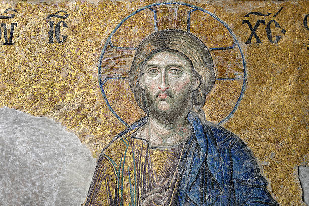 Christ, The Deesis Mosaic stock photo