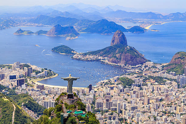 christ, the redeemer in rio de janeiro - south america travel stock photos and pictures