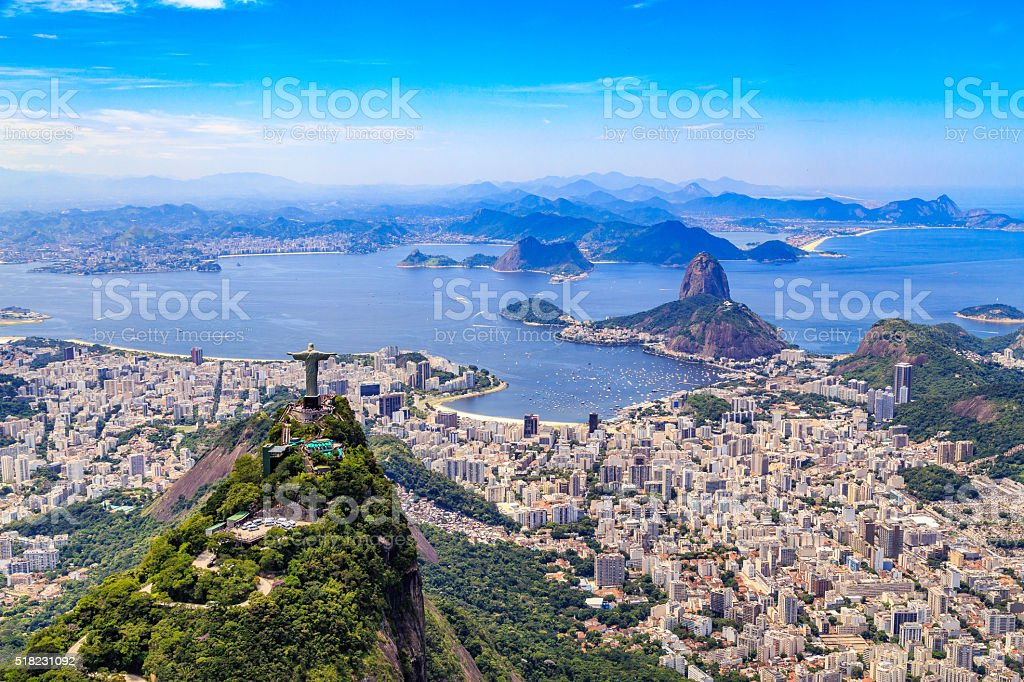 Christ, The Redeemer in Rio de Janeiro royalty-free stock photo