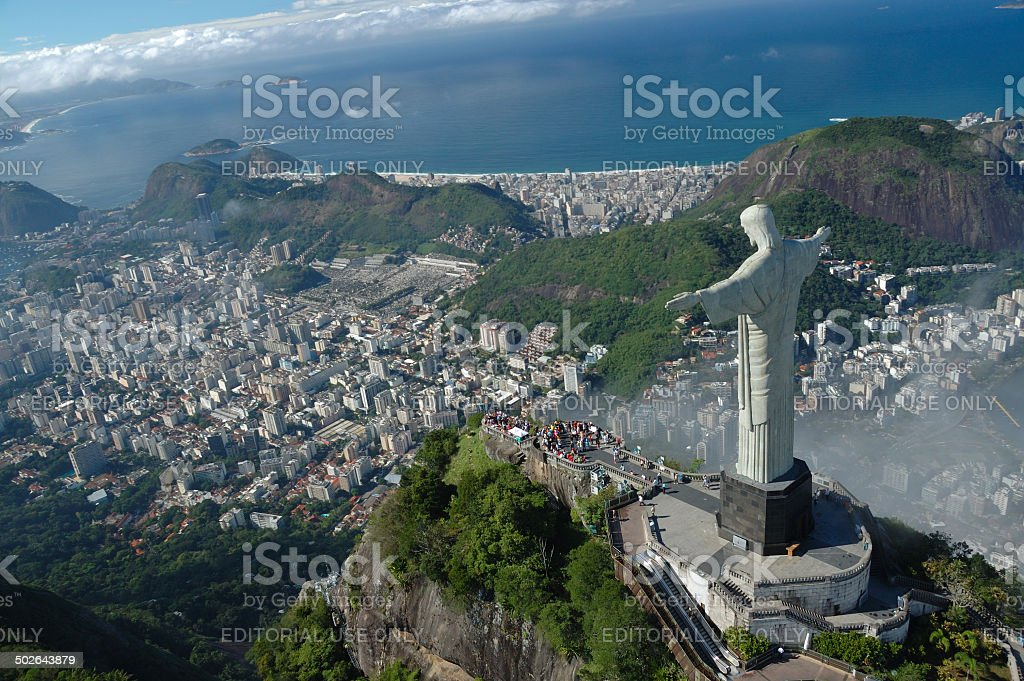 Christ the Redeemer over Rio de Janeiro stock photo